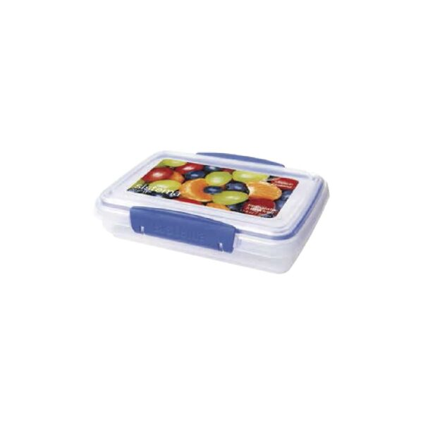 Hermetico Rectangular Azul 380 ml
